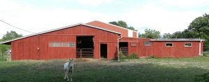 Barn painting and roof